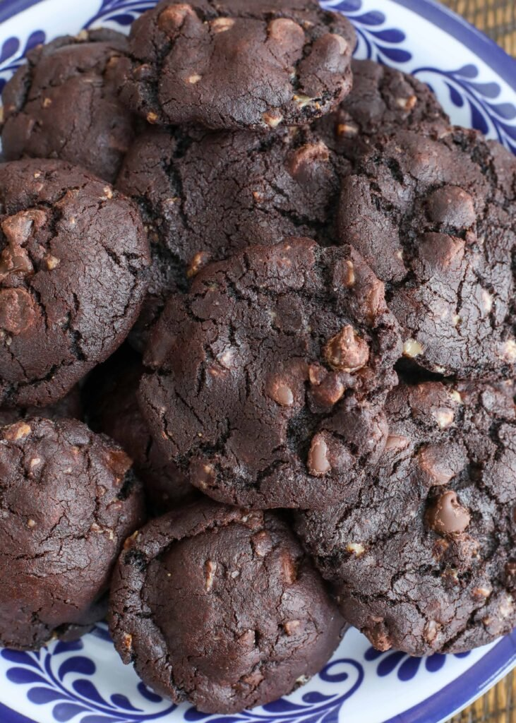 Chocolate and toffee are a perfect match in these cookies.