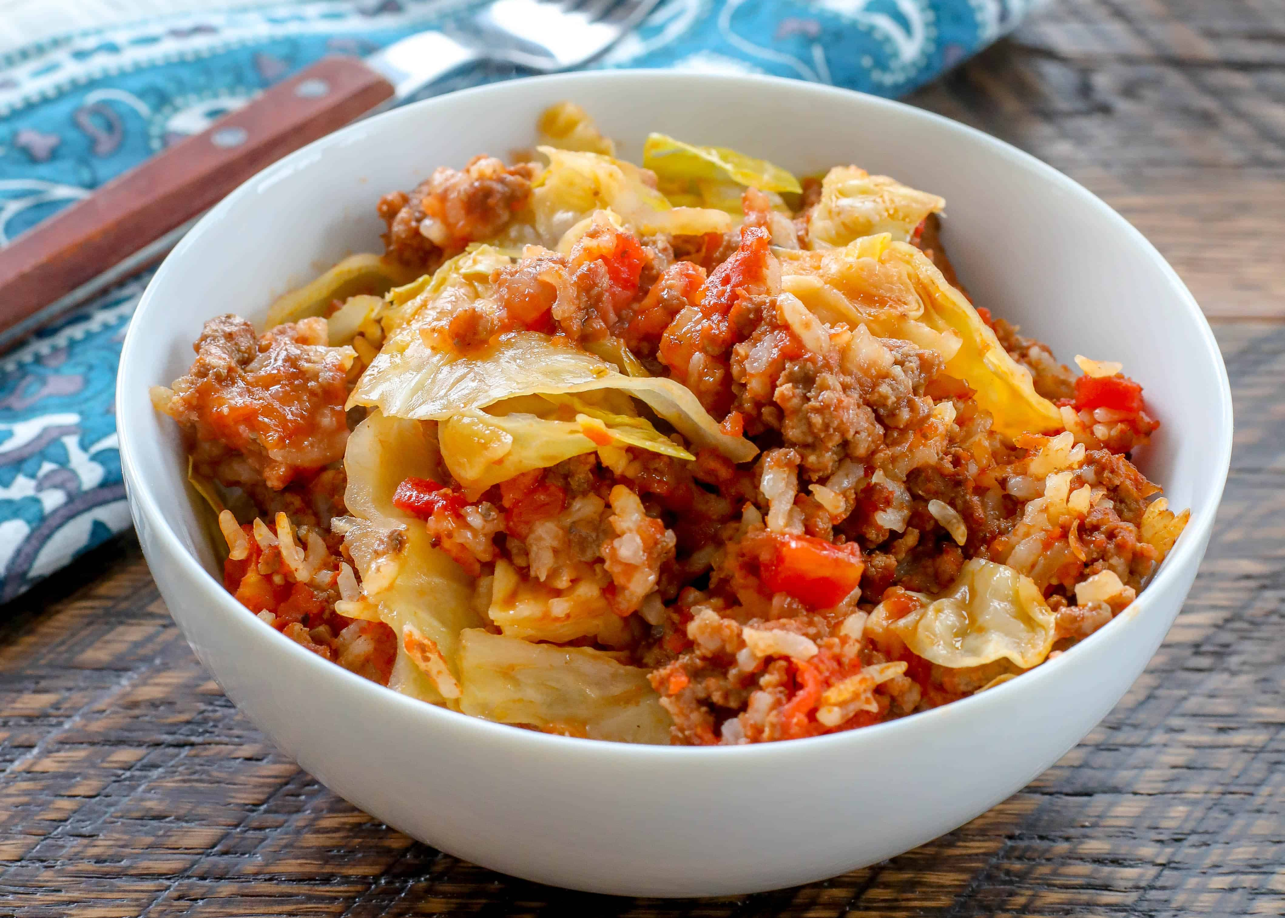 Layered Cabbage Roll Casserole Barefeet In The Kitchen