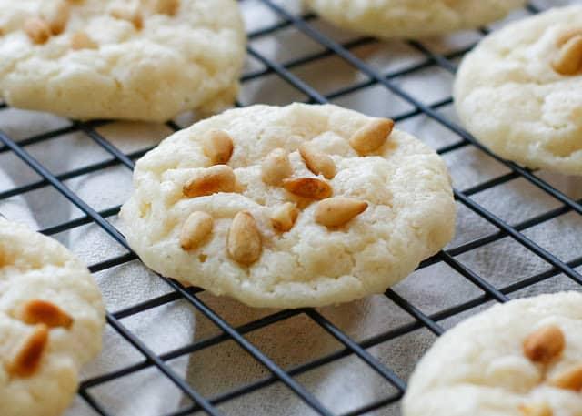 Pignoli Cookies (aka Pine Nut or Pinon Cookies) - get the recipe at barefeetinthekitchen.com