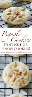 Pignoli Cookies Recipe (aka Pine Nut or Pinon Cookies)