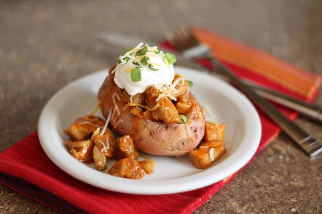 BBQ Turkey Stuffed Red Potatoes recipe by Barefeet In The Kitchen
