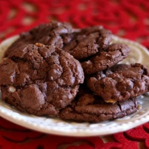 Dark Chocolate Toffee Cookies {traditional and gluten free recipes}