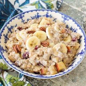 Holiday Oatmeal is a favorite all year round! get the recipe at barefeetinthekitchen.com