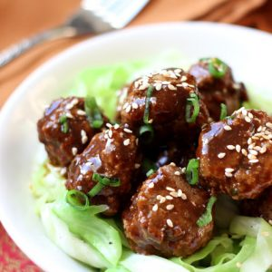 Saucy Asian Meatballs