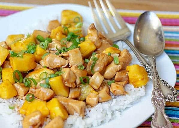 Teriyaki Chicken with Pineapple - get the recipe at barefeetinthekitchen.com