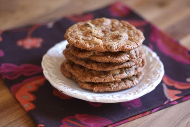 Toasted Coconut, Toffee and Chocolate Chip Cookies - Gluten Free or Not recipe by Barefeet In The Kitchen