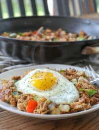 Pulled Pork Breakfast Skillet