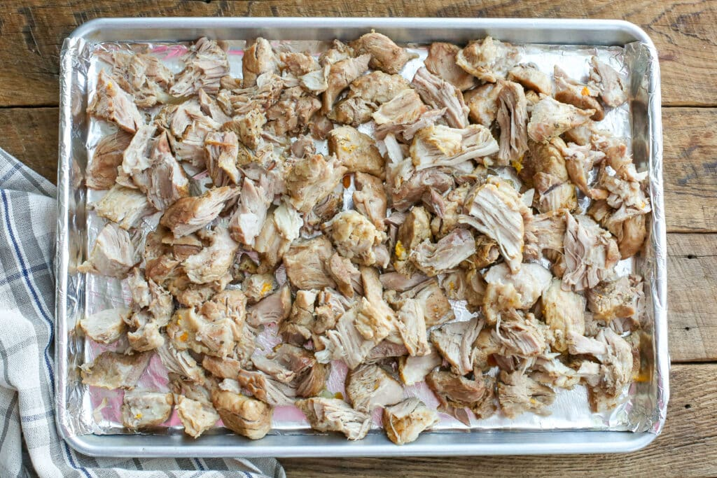 Pork Carnitas - straight out of dutch oven - broken apart (get the recipe at barefeetinthekitchen.com)