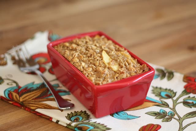 Apple Pie Baked Oatmeal recipe by Barefeet In The Kitchen