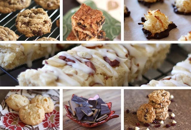 A bunch of different types of food, with Cookie and Flavor
