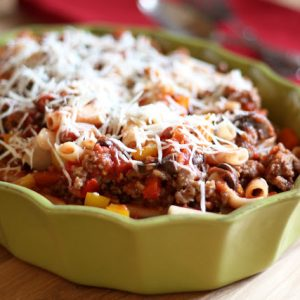 Mushroom, Pepper and Sausage Ziti Marinara