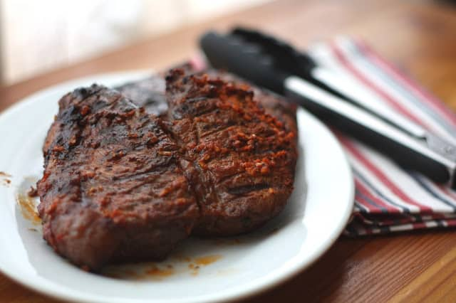 Garlic and Paprika Rubbed Steaks - Reverse Seared recipe by Barefeet In The Kitchen