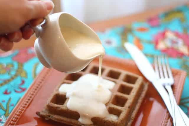 Vanilla Waffle Sauce - Gluten Free or Not recipe by Barefeet In The Kitchen