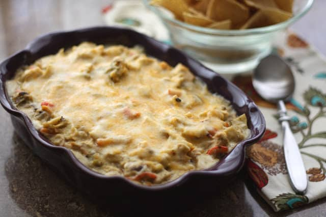 Chicken Enchilada Dip recipe by Barefeet In The Kitchen
