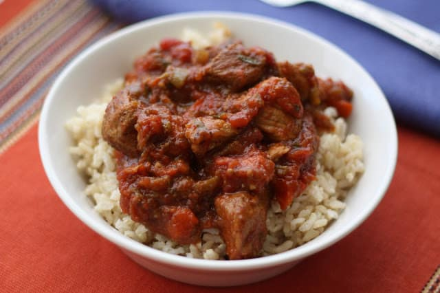 Mexican Pork and Tomato Chile Verde recipe by Barefeet In The Kitchen