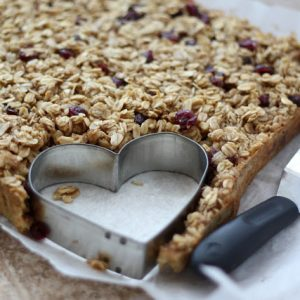 Heart Shaped Craisin Baked Oatmeal