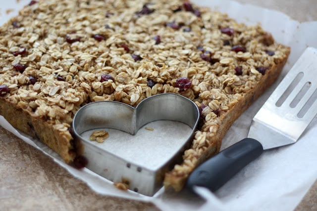 Heart Shaped Craisin Baked Oatmeal recipe by Barefeet In The Kitchen