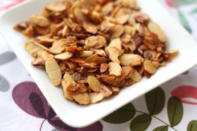 Kitchen Tips: How To Caramelize Almonds recipe by Barefeet In The Kitchen