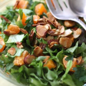 Orange Parsley Salad with White Balsamic Vinaigrette