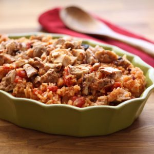 Chipotle Chicken and Rice (my version of Arroz con Pollo)
