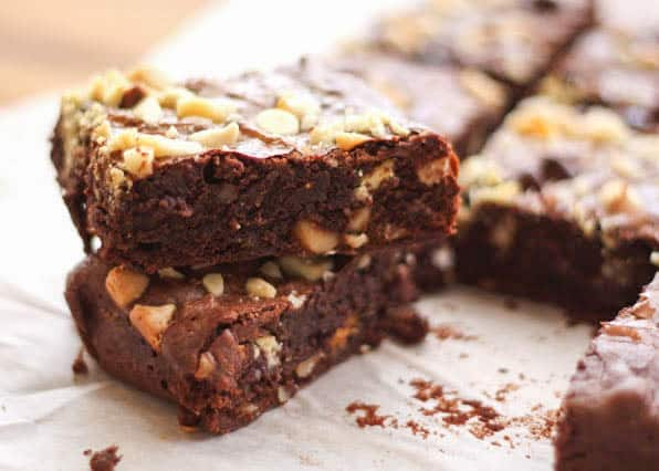 Double Chocolate Brownies - traditional, gluten free, and dairy free recipes included!