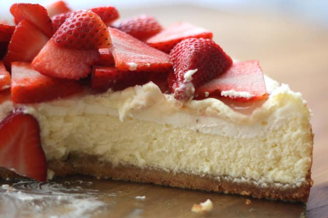 Layered Lemon Cheesecake with Brown Sugar Almond Crust recipe by Barefeet In The Kitchen