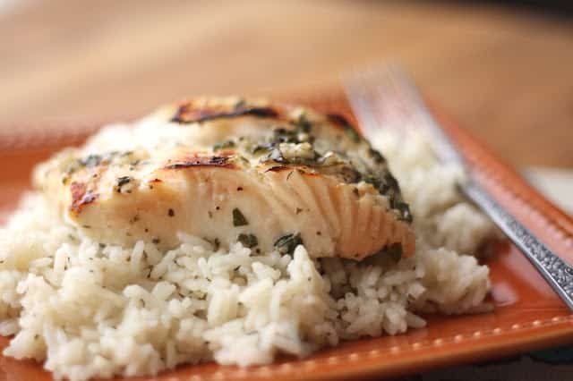 Lemony Garlic and Herb Halibut recipe by Barefeet In The Kitchen