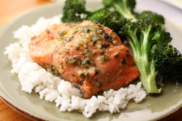 Mojo Marinated Salmon recipe by Barefeet In The Kitchen