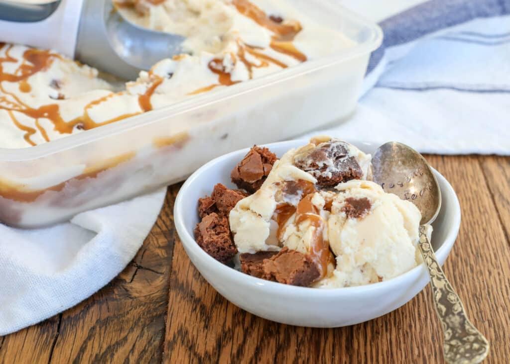 Caramel Brownie Ice Cream