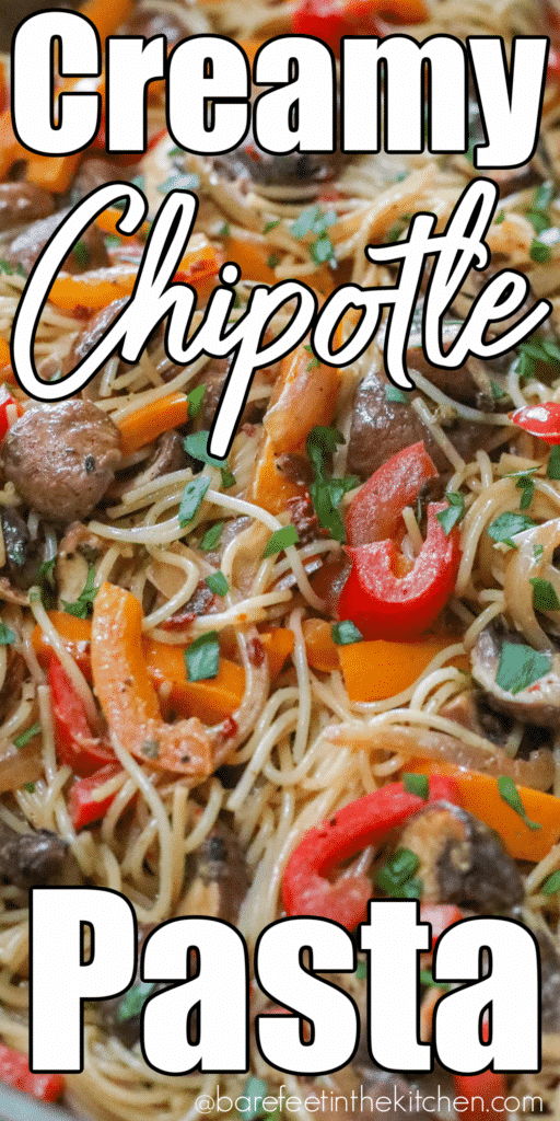 Creamy Chipotle Pasta with vegetables