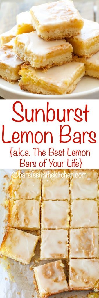 Sunburst Lemon Bars are a lemon lover's dream come true! get the recipe at barefeetinthekitchen.com