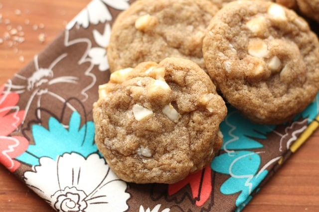 Brown Butter Chocolate Chip Macadamia Nut Cookies recipe by Barefeet In The Kitchen