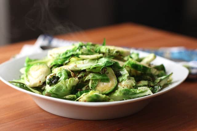 Smoky Buttered Brussels Sprouts recipe by Barefeet In The Kitchen