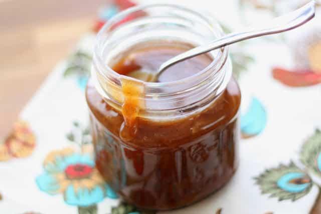 Vanilla Bean Salted Caramel Sauce recipe by Barefeet In The Kitchen