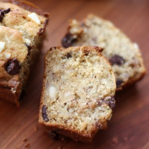 Chocolate Chip Macadamia Nut Banana Bread or Muffins