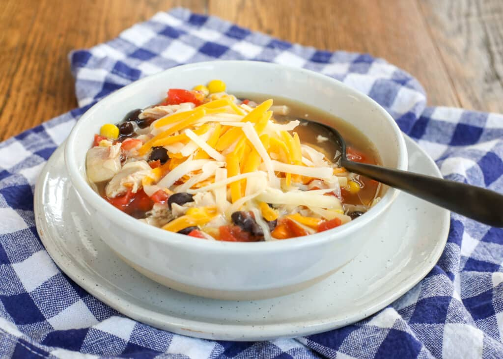 Southwest Chicken Soup - you can make it in just 10 minutes!