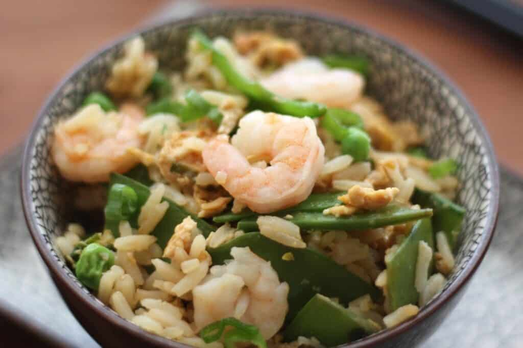 Shrimp and Vegetable Fried Rice recipe by Barefeet In The Kitchen
