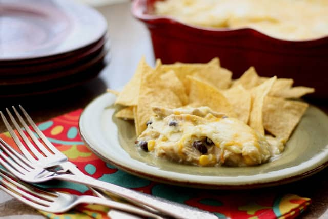 30 Minute Chicken, Corn and Black Bean Enchiladas recipe by Barefeet In The Kitchen