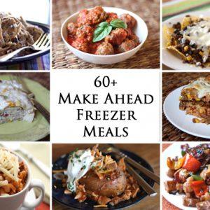 60+ Make-Ahead Freezer Meals
