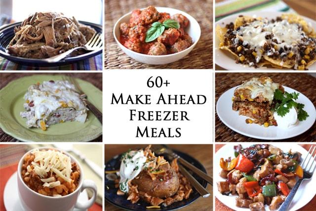 Easy recipes prepared ahead