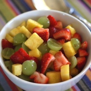 Honey Lime Summer Fruit Salad