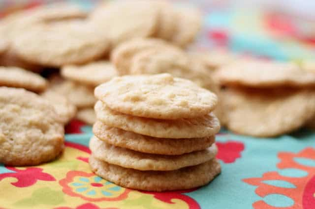 White Chocolate Macadamia Nut Lemon Cookies recipe by Barefeet In The Kitchen