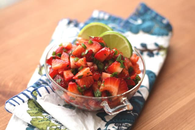 Strawberry Jalapeno Salsa recipe by Barefeet In The Kitchen