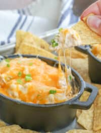 Cheesy Chicken Dip - hearty enough for a meal or an appetizer for any occasion