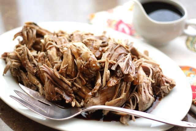 Crock-Pot Brown Sugar and Balsamic Pork Roast recipe by Barefeet In The Kitchen