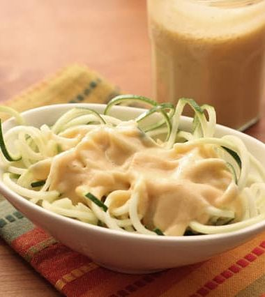 Zucchini Noodles with Creamy Chipotle Sauce