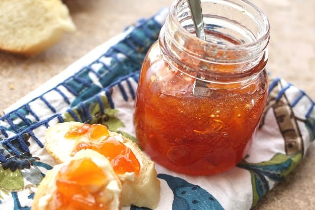 Habanero Peach Jam recipe by Barefeet In The Kitchen