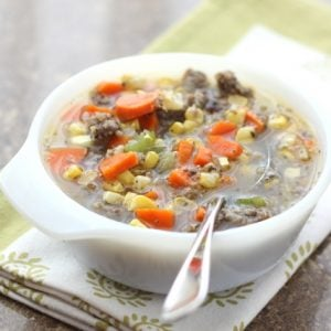 Italian Corn Soup with Sausage