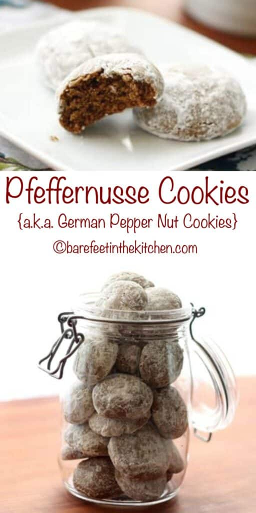 Pfeffernusse (a.k.a. German Pepper Nut Cookies) - get the recipe at barefeetinthekitchen.com