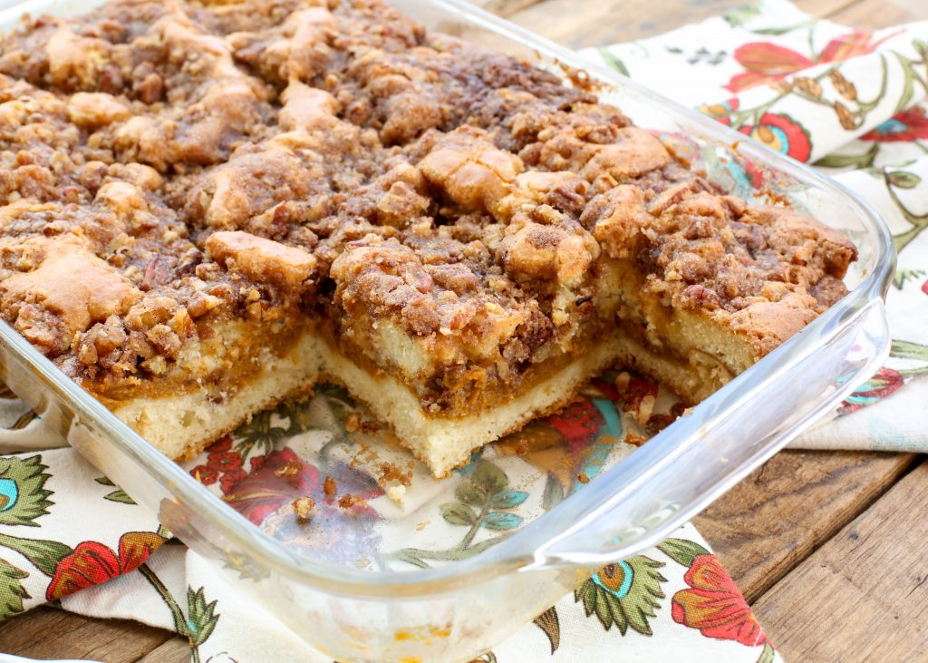 Pumpkin Coffee Cake - get the recipe at barefeetinthekitchen.com